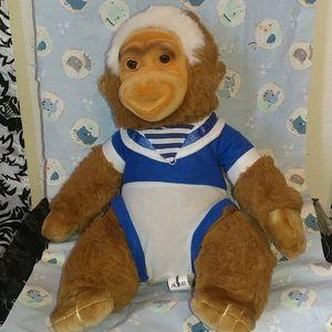Monkey stuffed animal 13 inches